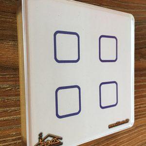 کلید لمسی زاگرس طرح مربع ساده