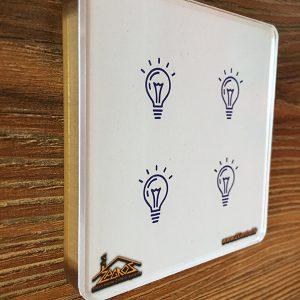 کلید لمسی زاگرس طرح لامپ ساده
